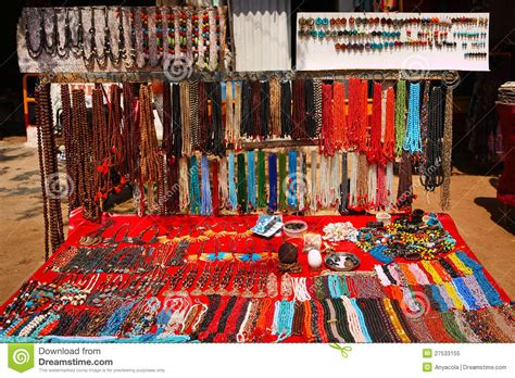 Handmade Goods Marketplace - flea market in india royalty free stock photo image