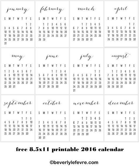 8 5 x 11 printable calendar my blog