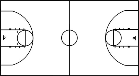 Outdoor Basketball Court Template by Basketball Court Layout Printable Copyright C By