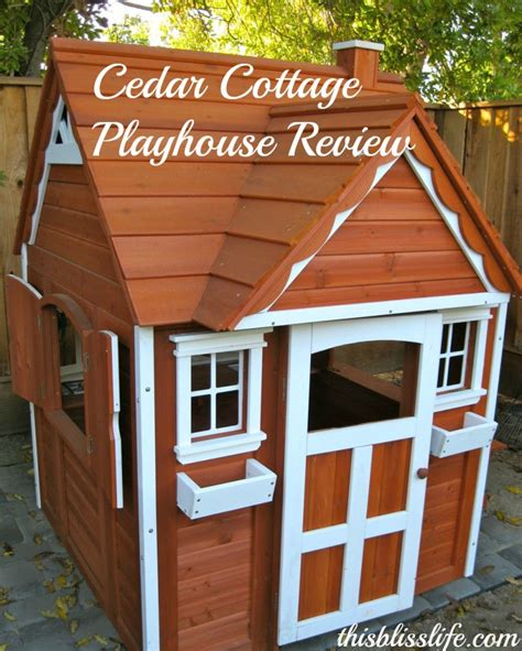 a cedar cottage by backyard discovery this bliss life