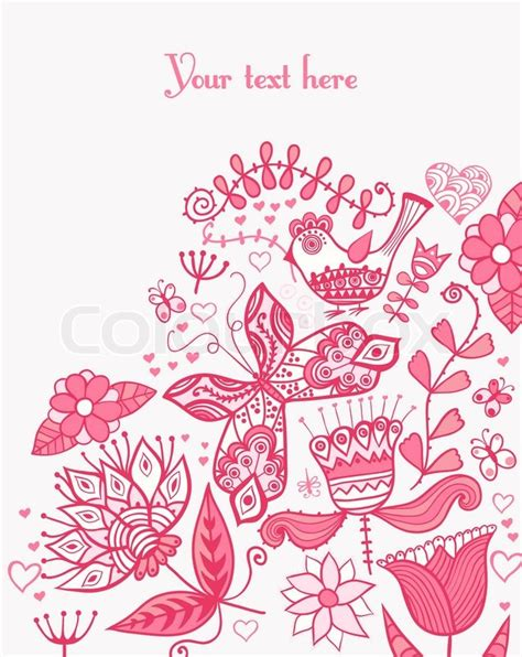 s day card template in floral background summer theme greeting card template