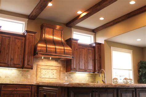 Copper Kitchen Exhaust by Camillia Copper Range Traditional Range Hoods And