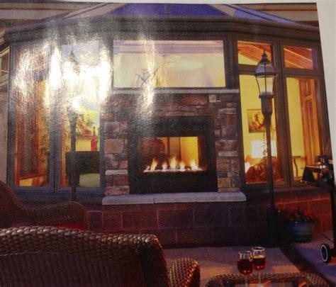 indoor outdoor fireplace home
