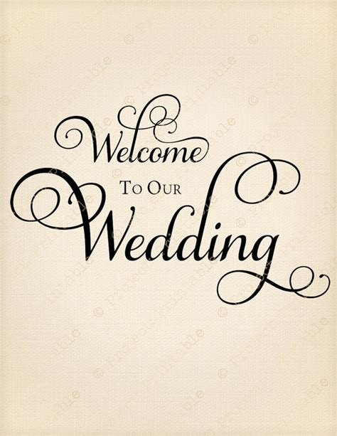 Welcome To Our Wedding Instant Digital Download Fabric Welcome To The Wedding Of Template