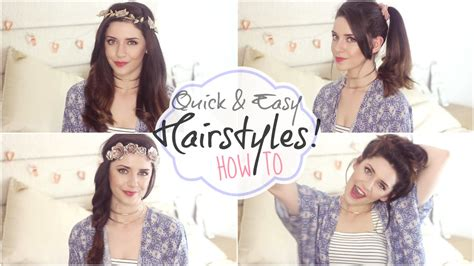 simple hairstyles for school zoella quick easy hair styles for long hair my routine