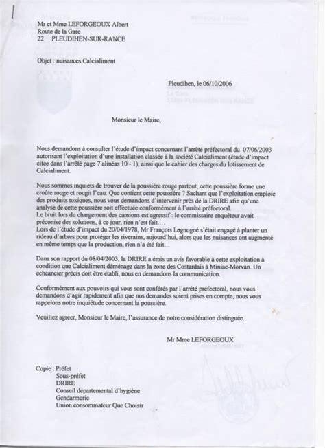 lettre officielle au maire lettre au maire du 06 10 2006