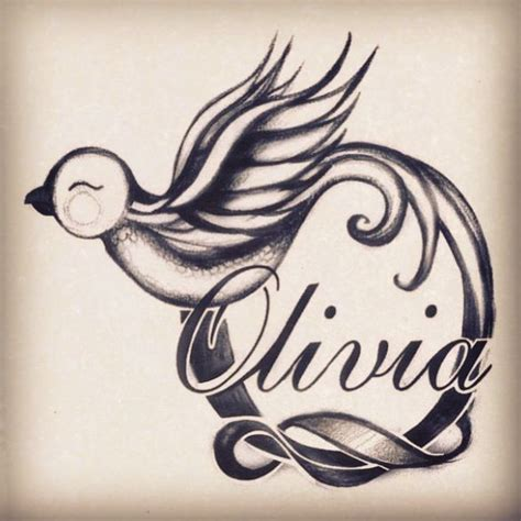 olivia tattoo bird bird tattoos