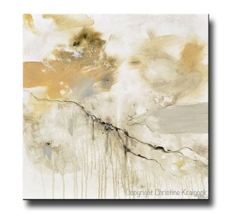 Exclusive Home Decor Items giclee print art white grey abstract painting modern