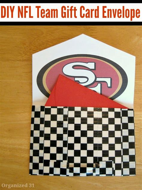 gifts for football fans diy football fan gift envelope football posts and team