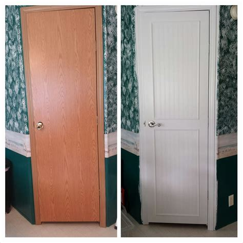 Interior Mobile Home Doors with Mobile Home Interior Door Makeover