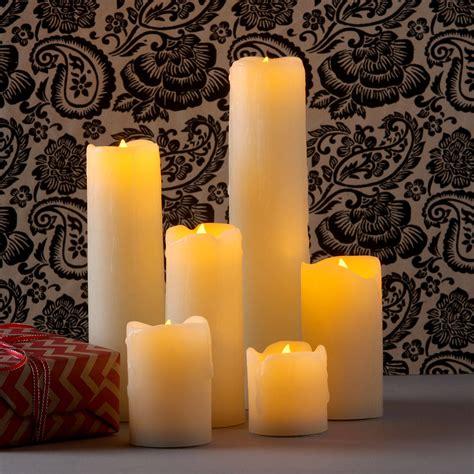 decorative electric candles set lights flameless candles pillar candles natural