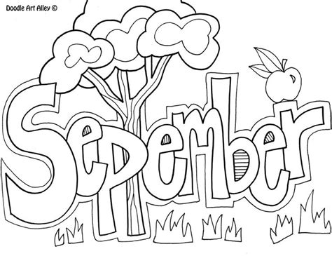 September Coloring Pages Preschool | september month coloring pages for kids daycare