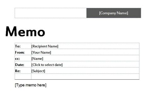 business memo template and format sle for word or excel