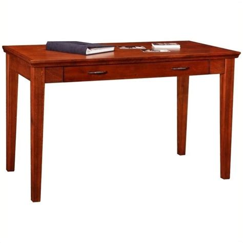 bowery hill cherry laptop writing desk in brown cherry