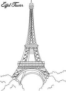 eiffel tower coloring page eiffel tower coloring printable page for