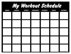 Exercise Calendar Template Free Printable Workout Log Inspire