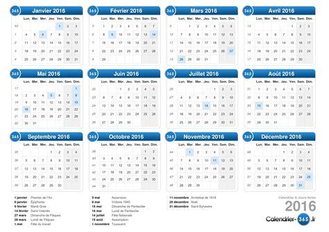 Calendrier Des Semaines 2016 Calendrier 2016