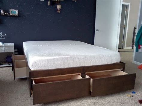 diy platform bed with drawers pdf plans platform storage bed plans with drawers download