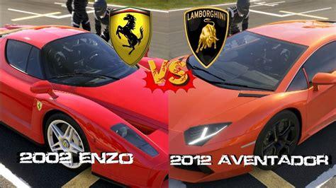Enzo Vs Lamborghini Aventador Forza 5 Enzo Vs Lamborghini Aventador