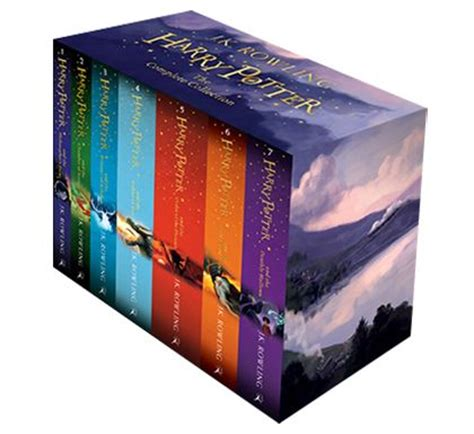 harry potter paperback box harry potter box set the complete collection children s paperback j k rowling bloomsbury