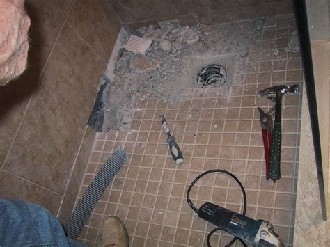 how to build a mortar bed shower drain bathroom