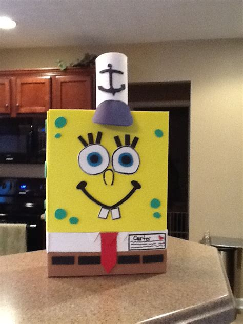 spongebob box spongebob box made using a cereal box foamies