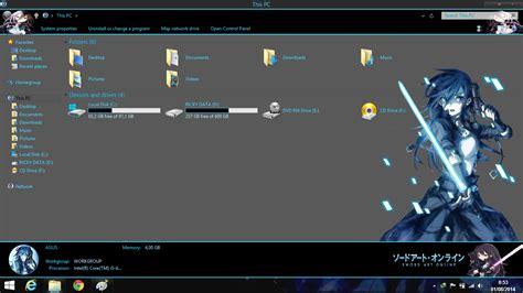 download theme windows 7 gun gale online theme win8 8 1 kirigaya kazuto gun gale online by