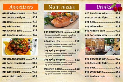 design poster menu restaurant menu landscape postermywall