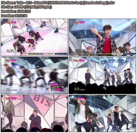 download mp3 bts i need you download perf bts i need u mbc music core 150502