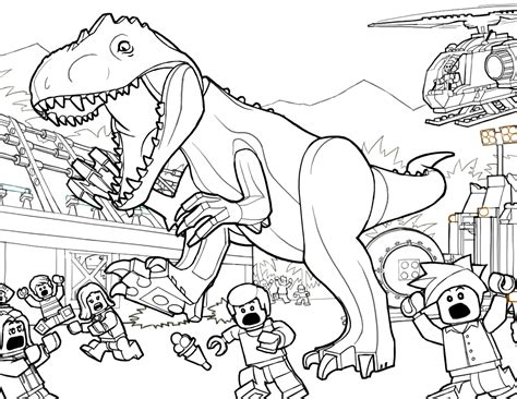 lego jurassic coloring pages free coloring pages
