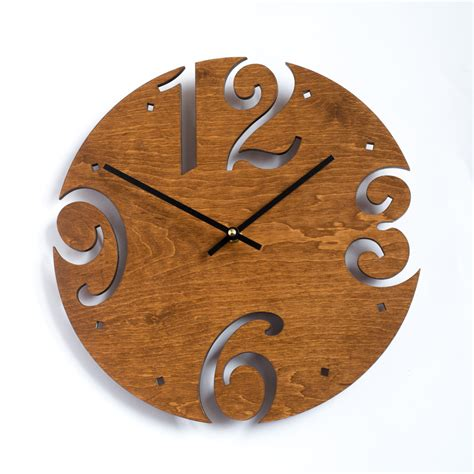 unusual wall clocks large wall clock unique clock modern clock wooden wall