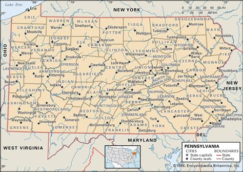 map of pennsylvania state and county maps of pennsylvania