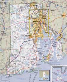 map of roads and highways large detailed roads and highways map of rhode island