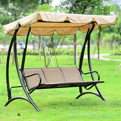 outdoor swing bench with canopy compare prices on iron garden swing online shopping buy