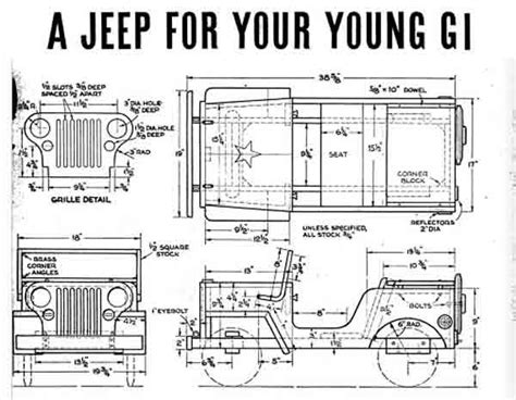 wooden jeep plans vintage pedal car plans free to