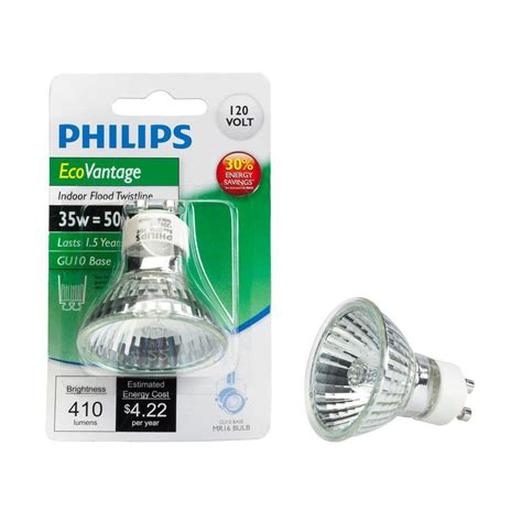 Lu Philips Helix 52 Watt philips 50 watt equivalent halogen mr16 gu10 dimmable