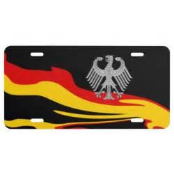 Patriotic Vanity Plate Ideas Abstract German Flag Design With German Eagle License