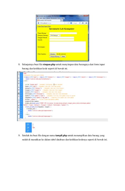 tutorial membuat online shop php tutorial php membuat aplikasi inventaris