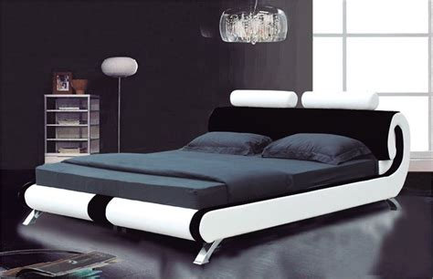 ebay beds modern italian designer double king size leather bed 2