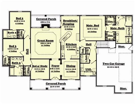 floor plan 4 bedrooms 2 living rooms under 2000 sq ft