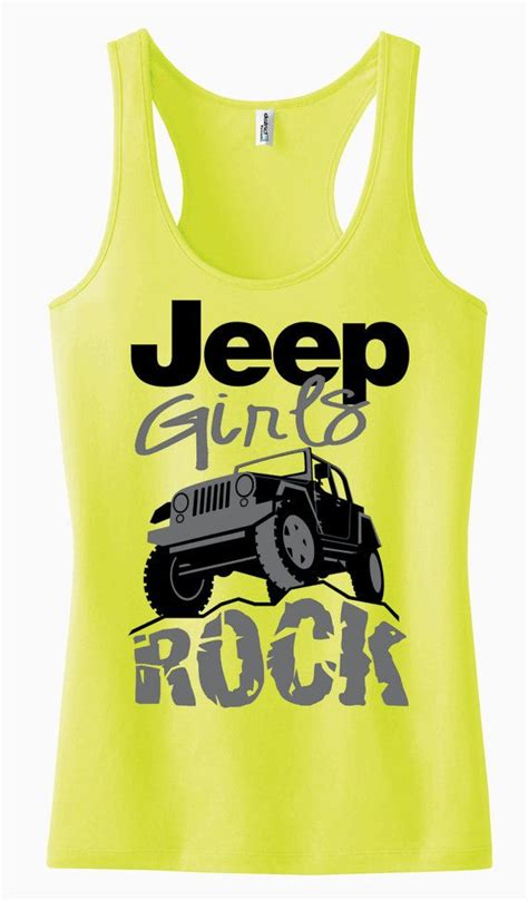 jeep tank top jeep girls rock racerback tank top by adspecial on etsy