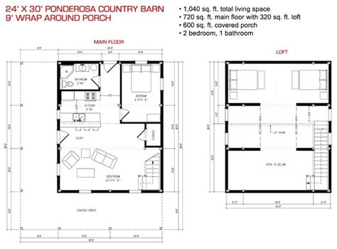 24x30 house plans 24x30 floor plan pre designed ponderosa barn home kit image homes gambrel