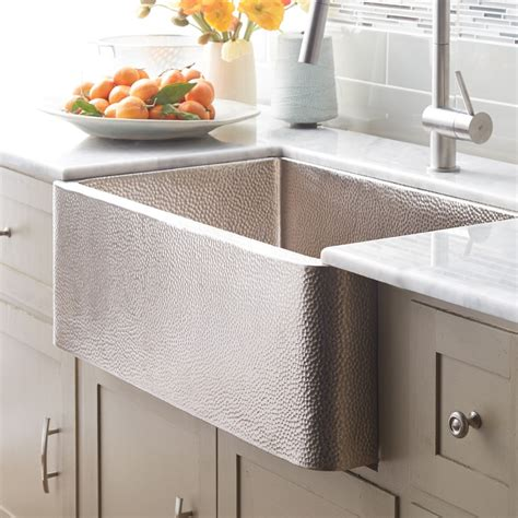 farmhouse 30 brushed nickel kitchen sink trails