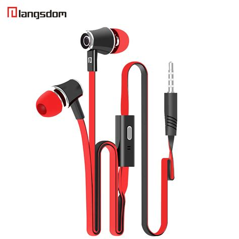 Headphone Sony Bass 35 Mm langsdom jm21 stereo bass earphone earpieces headset with mic 3 5mm free for apple samsung