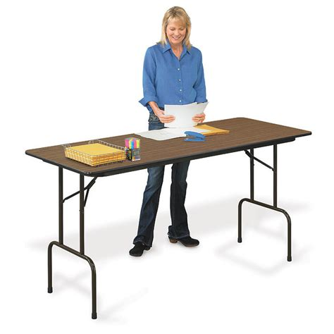 Counter Height Folding Table Cfs3072m Folding Table Standing Counter Height 30 X 72 L Affordable Tables Correll Products