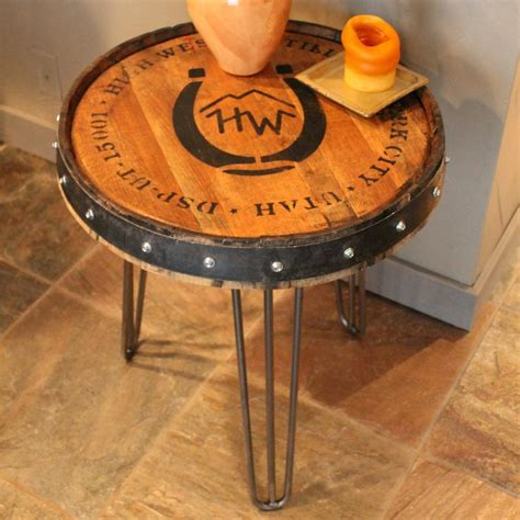 whiskey barrel bench 25 best ideas about whiskey barrel table on pinterest