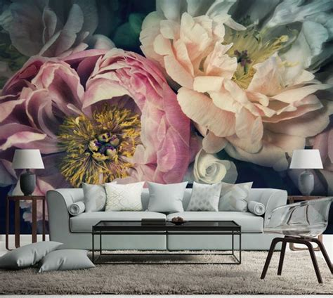 floral wall murals floral wall mural perfectly addition to any living room
