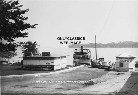 pedal boat lake minnetonka 1930 s lake minnetonka coca cola sign boat launch photo