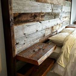 Barn Board Headboard I D Like This With The Wood Not So Obviously Pallet Y Also Need To See How A Footboard Would