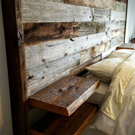 woodworking headboard i d like this with the wood not so obviously pallet y